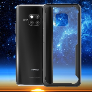 Shockproof Drop-proof Combo TPU Edges PC Hard Mobile Case for Huawei Mate 20 Pro - Black