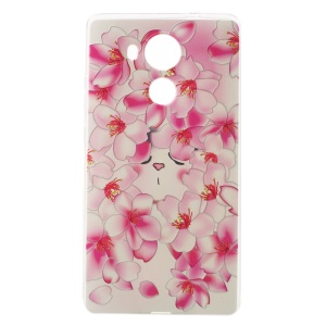Softlyfit Embossing Pattern Printing Slim TPU Cover for Huawei Mate 8 - Blooming Plum Blossom
