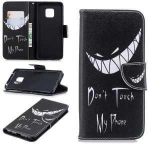 Pattern Printing Wallet Flip Stand PU Leather Case for Huawei Mate 20 Pro - Angry Face
