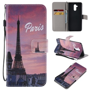 Patterned Wallet Stand Leather Protection Case for Huawei Mate 20 Lite / Maimang 7 - Paris
