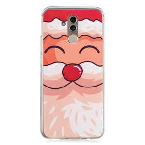Pattern Printing Christmas Series TPU Mobile Case for Huawei Mate 20 Lite - Lovely Santa Claus