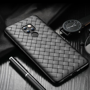 ROCK Woven Pattern Heat Dissipation TPU Case for Huawei Mate 20 - Black