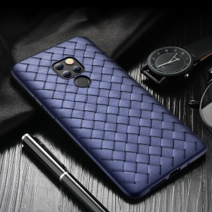 ROCK Woven Pattern Heat Dissipation TPU Shell for Huawei Mate 20 - Blue