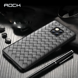 ROCK Woven Pattern Heat Dissipation TPU Mobile Casing for Huawei Mate 20 Pro - Black