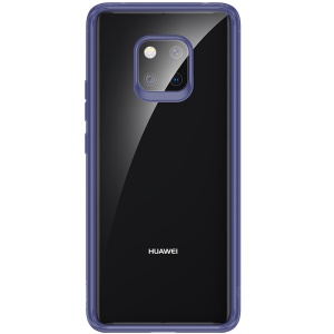 ROCK Ultra-thin TPU PC Crystal Clear Hybrid Cellphone Case (Support Wireless Charging) for Huawei Mate 20 Pro - Blue