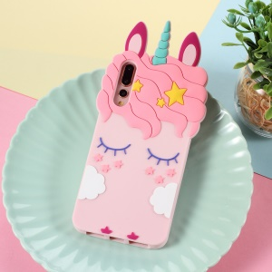 3D Unicorn Pattern Silicone Back Case for Huawei P20 Pro