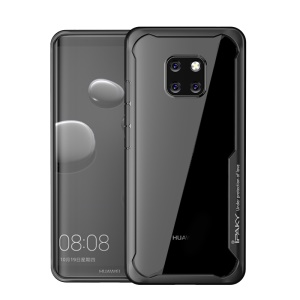 IPAKY Drop-resistant PC + TPU Hybrid Mobile Case for Huawei Mate 20 Pro - Black