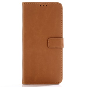 Crazy Horse Retro Leather Wallet Stand Shell for Huawei Mate 20 Pro - Brown