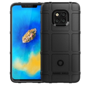 Anti-shock  Square Grid Texture TPU Case for Huawei Mate 20 Pro - Black