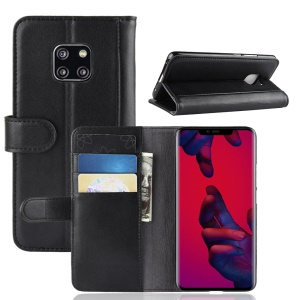 Split Leather Mobile Phone Case for Huawei Mate 20 Pro - Black