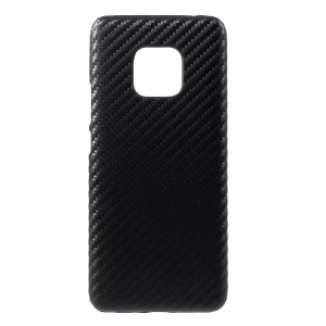 PU Leather Coated PC Mobile Phone Case for Huawei Mate 20 Pro - Carbon Fiber Texture