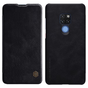 NILLKIN Qin Series Card Slot Leather Shell for Huawei Mate 20 - Black