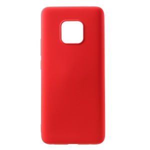 All Wrapped Back and Edges Liquid Silicone Phone Case for Huawei Mate 20 Pro - Red