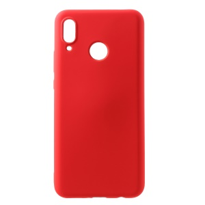 All Wrapped Back and Edges Liquid Silicone Cell Phone Case for Huawei nova 3 - Red