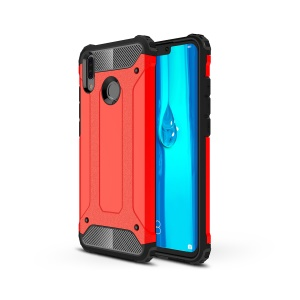 Armor Guard Plastic + TPU Hybrid Protective Case for Huawei Y9 (2019) / Enjoy 9 Plus - Red