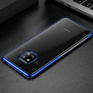BASEUS Shining Series Plated TPU Back Case for Huawei Mate 20 Pro - Blue