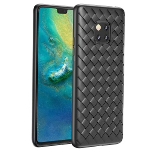 BASEUS BV Weaving Case Heat Dissipation TPU Mobile Cover for Huawei Mate 20 Pro - Black