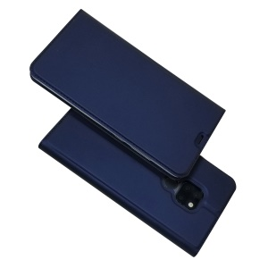 Magnetic Adsorption Leather Case with Card Slot for Huawei Mate 20 - Dark Blue