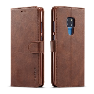 LC.IMEEKE Wallet Leather Stand Case for Huawei Mate 20 - Coffee