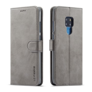 LC.IMEEKE Wallet Leather Magnetic Case for Huawei Mate 20 - Grey
