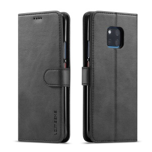 LC.IMEEKE Wallet Leather Stand Cover for Huawei Mate 20 Pro - Black