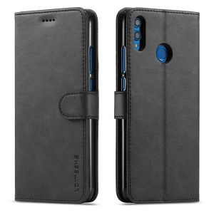 LC.IMEEKE Wallet Leather Stand Cover for Huawei Honor 8X / Honor View 10 Lite - Black