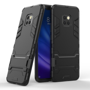Cool Guard PC TPU Hybrid Mobile Phone Case with Kickstand for Huawei Mate 20 Pro - Black