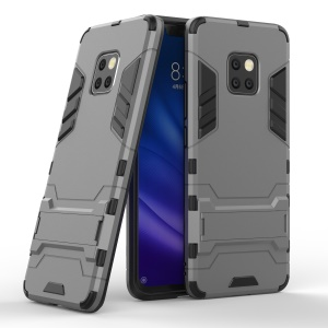 Cool Guard PC TPU Hybrid Mobile Phone Shell with Kickstand for Huawei Mate 20 Pro - Grey