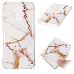 Marble Pattern IMD TPU Cell Phone Case for Huawei Mate 20 Lite - Style D