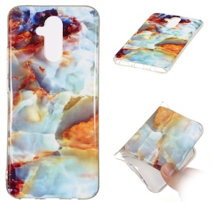 Marble Pattern IMD TPU Protection Case for Huawei Mate 20 Lite - Style F