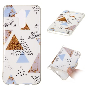 Marble Pattern IMD TPU Phone Cover Case for Huawei Mate 20 Lite - Style L
