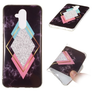 Marble Pattern IMD TPU Phone Shell Case for Huawei Mate 20 Lite - Style M