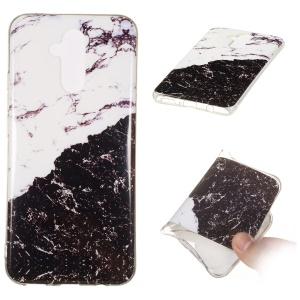 Marble Pattern IMD TPU Case Phone Cover for Huawei Mate 20 Lite - Style O