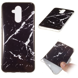 Marble Pattern IMD Flexible TPU Case for Huawei Mate 20 Lite - Style P