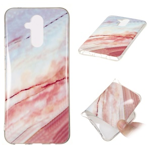 Marble Pattern IMD TPU Case Shell Phone Cover for Huawei Mate 20 Lite - Style Q