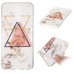 Marble Pattern IMD TPU Gel Case Cover for Huawei Mate 20 Lite - Style R