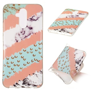 Marble Pattern IMD TPU Cell Phone Cover Case for Huawei Mate 20 Lite - Style U