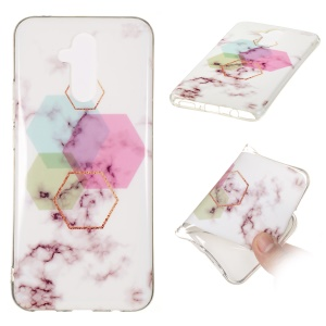 Marble Pattern IMD TPU Protective Cover Case for Huawei Mate 20 Lite - Style X