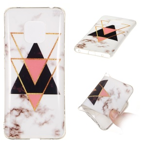 For Huawei Mate 20 Pro Cover [Marble Pattern] IMD TPU Case - Style C