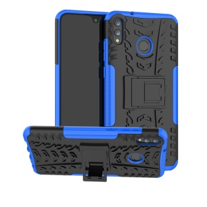 2-in-1 Tyre Pattern PC + TPU Hybrid Back Shell with Kickstand for Huawei Honor 8X Max - Blue