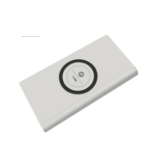 YOGEE 6000mAh External Power Bank Support Qi Wireless Charging - White