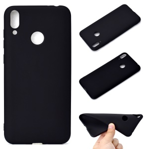 Soft Frosted TPU Case for Huawei Honor 8C - Black