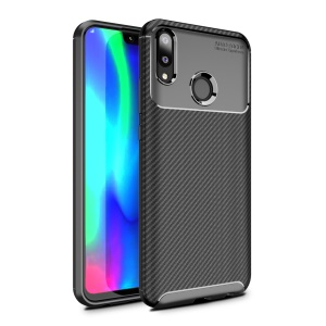 Carbon Fiber Anti-drop TPU Protection Case for Huawei Y9 (2019) / Enjoy 9 Plus - Black