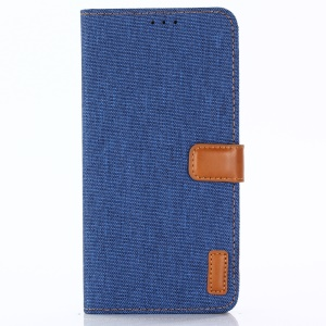 Oxford Cloth Wallet Stand PU Leather Protective Shell for Huawei Mate 20 Lite - Baby Blue