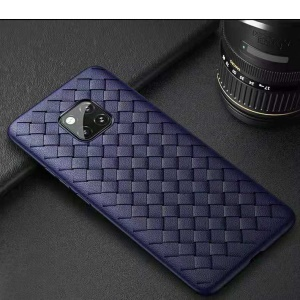 Woven Texture TPU Mobile Shell [Heat Dissipation] for Huawei Mate 20 Pro - Blue
