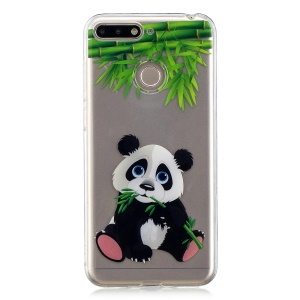 Pattern Printing IMD TPU Case for Huawei Y6 (2018) - Panda Pattern