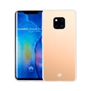 MOMAX Mirror Case Tempered Glass Back + TPU Hybrid Phone Case for Huawei Mate 20 Pro - Gold