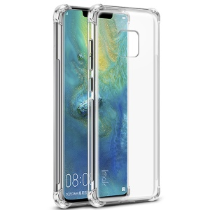 IMAK for Huawei Mate 20 Pro, Smooth Feel Anti-drop TPU Shell + Explosion-proof Screen Film - Transparent