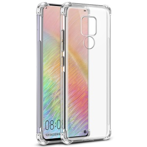 IMAK for Huawei Mate 20 X, Smooth Feel Anti-drop TPU Shell + Explosion-proof Screen Film - Transparent