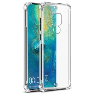 IMAK for Huawei Mate 20, Smooth Feel Anti-drop TPU Shell + Explosion-proof Screen Film - Transparent